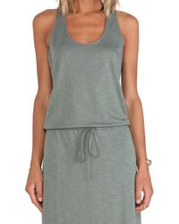 Lanston - Green Racerback Dress - Lyst