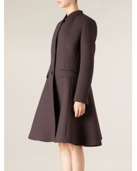 Neil Barrett | Brown Flared Overcoat | Lyst