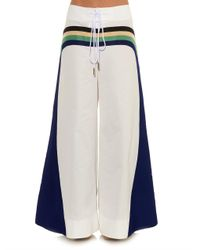 Rosie Assoulin | White Striped Wide-Leg Trousers | Lyst