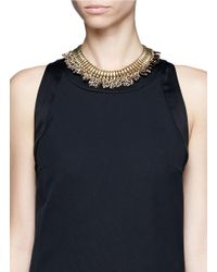 Ela Stone - Metallic Baker Leopard Print Chain Necklace - Lyst