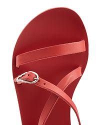 Ancient Greek Sandals - Sofia Leather Sandals - Red - Lyst