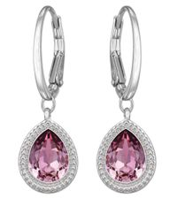 Swarovski | Purple Aneesa Crystal Drop Earrings | Lyst