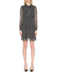 Diane von Furstenberg | Natural Arabella Tie Neck Silk Dress | Lyst