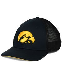 buy online c845e 6de14 Men s Black Iowa Hawkeyes L91 Swoosh Flex Stretch-Fit Cap