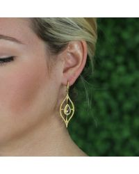Annie Fensterstock - Metallic Golden Ella Earrings - Lyst