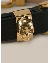 Alexander McQueen | Black Chain Cuff Bracelet | Lyst