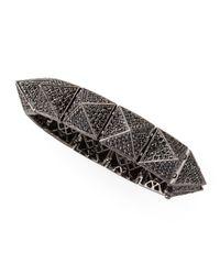 Eddie Borgo | Metallic Large Pave Pyramid Bracelet | Lyst