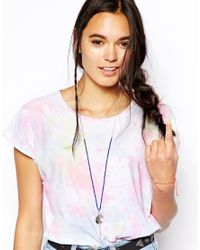 ASOS - Blue Eye Cluster Charm Long Necklace - Lyst