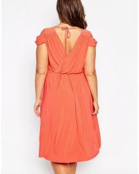 ASOS - Black Wedding Wrap Front Midi Dress - Lyst