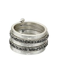 Lucky Brand | Metallic Stackable Attached Rings | Lyst
