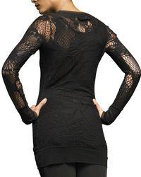 Jean Paul Gaultier   Black Long-sleeve Lace Tunic   Lyst