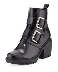 Opening Ceremony - Black Grunge Leather Combat Boots - Lyst