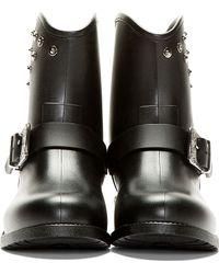 DIESEL - Black Gammy Riveted Rain Boots - Lyst