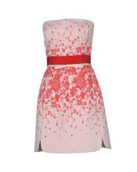 Giambattista Valli - Red Short Dress - Lyst