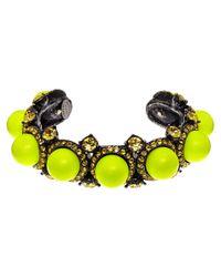 Lanvin - Metallic Yellow Bahia Cuff Bracelet - Lyst