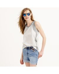 J.Crew | White Inset Embellished Tank Top | Lyst