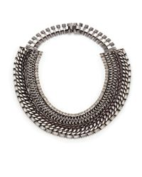 DANNIJO | Metallic Olivia Crystal Mixed Collar Necklace | Lyst