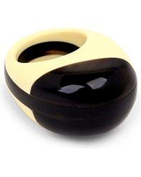 Marni - Black Two-tone Resin Ring - Lyst