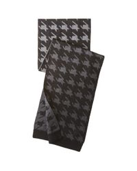 Ted Baker - Gray Twenton Scaled Houndstooth Scarf for Men - Lyst