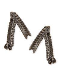 Tuleste - Metallic Wheat Stud Earrings - Lyst