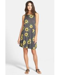 Wildfox - Gray 'Contempo Sunflower' Sleeveless Dress - Lyst