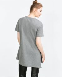 Zara | Brown Oversize T-shirt | Lyst