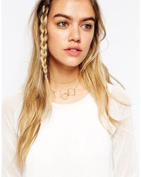 ASOS | Metallic Limited Edition Shapes Multirow Choker Necklace | Lyst