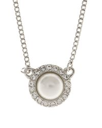 Givenchy | Metallic Faux Pearl And Crystal Pendant | Lyst