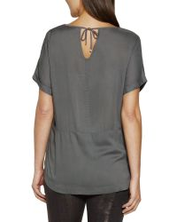 Sandwich Gray Embellished Top