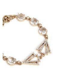 Lulu Frost | Metallic 'istria' Crystal Pavé Arrow Glass Dome Bracelet | Lyst