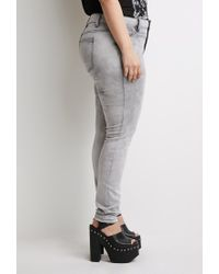 Forever 21 | Gray Plus Size Cloud Wash Jeans | Lyst