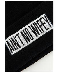 Missguided - Aint No Wifey Motif Beanie Black - Lyst