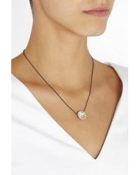 Larkspur & Hawk - Metallic Olivia Button Rose Golddipped Topaz Necklace - Lyst