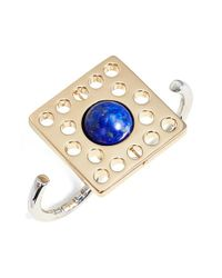 Uribe - Blue Lapis Lazuli Open Two-finger Ring - Lyst