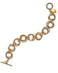 Lauren by Ralph Lauren - Metallic 14K Gold-Plated Double Link Toggle Bracelet - Lyst