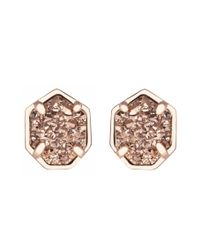 Kendra Scott | Pink Logan Earrings, Rose Gold Drusy | Lyst
