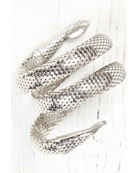 Free People - Metallic Vintage Snake Coil Arm Band - Lyst