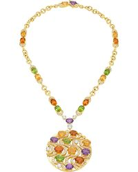 BVLGARI - Mediterranean Eden 18kt Yellow-gold Necklace With Peridots, Citrine Quartzes, Amethysts, Diamonds And Pavé Diamonds - Lyst
