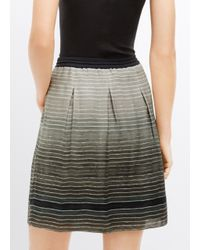 Vince - Gray Ombré Stripe Silk Skirt - Lyst