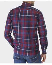 Fred Perry | Blue Large Check Shirt for Men | Lyst