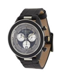 Givenchy - Black Eleven Chronograph Watch Size Os - Lyst