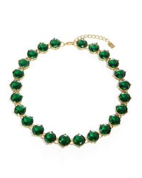 Lauren by Ralph Lauren | Green Emerald Crystal Necklace | Lyst