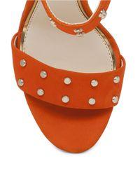 Jessica Simpson | Orange Elonna Leather Stilettos | Lyst
