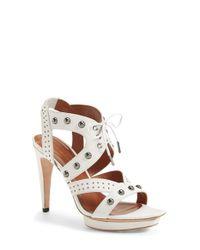 Rebecca Minkoff | White 'Ilima' Studded Sandal | Lyst