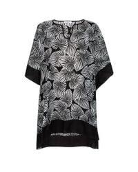 Paul Smith | Women's Black Cotton 'palm Leaf' Print Tunic | Lyst