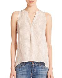 Joie | Beige Aruna Silk Python-print Sleeveless Blouse | Lyst