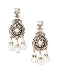 Banana Republic   White Pearls Please Chandelier Earring   Lyst