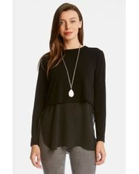 Karen Kane | Black Double Layer Sweater | Lyst