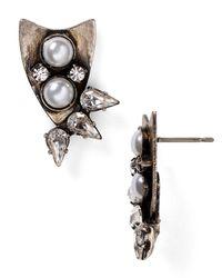 DANNIJO - Metallic Nico Crystal Stud Earrings - Lyst