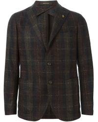 Tagliatore - Brown Checked Blazer for Men - Lyst